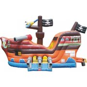 Pirate Ship Junior Jump and Slide w/ Hoop