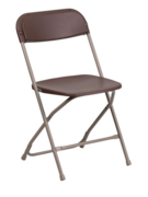 Brown Resin Folding Chair