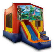 Military Playtime Jump and Front Slide - Medium