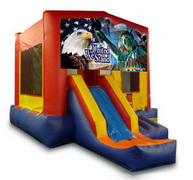 Patriotic Playtime Jump and Front Slide - Medium