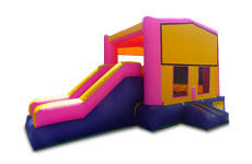 Pink Playtime Jump and Side Slide with Hoop - Medium (CD22121-P)