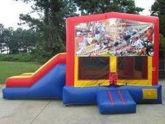 Go Auburn Partytime Jump and Side Slide - Large