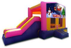Happy Holidays Pink Playtime Jump and Side Slide - Medium