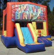 Happy Birthday Balloon Playtime Jump and Front Slide - Medium