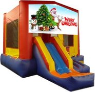 Merry Christmas Playtime Jump and Front Slide - Medium