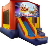 Merry Christmas Santa and Rudolph Playtime Jump and Front Slide - Medium