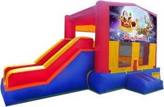 Merry Christmas Santa and Rudolph Playtime Jump and Side Slide - Large