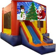 Santa and Snowman Playtime Jump and Front Slide - Medium