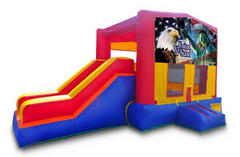 Patriotic Playtime Jump and Side Slide - Medium