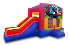 z All Aboard the Train Playtime Jump and Side Slide - Medium