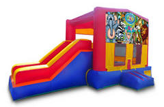 Wild Kingdom Playtime Jump and Side Slide - Medium