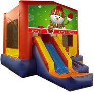 Snowman Playtime Jump and Front Slide - Medium