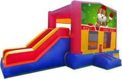 Snowman Playtime Jump and Side Slide - Large