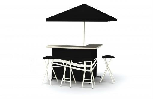 Portable Party Bar - Standard Black