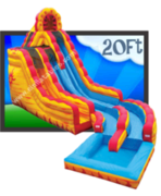20ft Fire N Ice Mega Water Slide