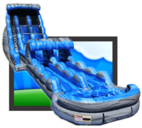 The 23ft Tsunami Mega Dual Lane Water Slide