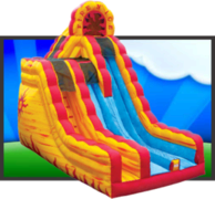 2 Story Fire N Ice Dry Slide