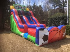 18 ft Sports Slide, same one day drop off and pick up or 3 day rental, drop off Friday and pick up Monday for the same day price