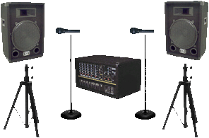 Single PA Speaker