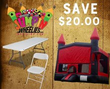 <b><font color=red> SAVE $20 <font/></b> BUILD YOUR OWN PACKAGE    Bounce House w/ Tables & Chairs
