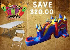 <b><font color=red> Save $20 <font/></b> BUILD YOUR OWN PACKAGE   Bounce House Combo w/ Tables & Chairs