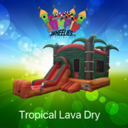 Tropical Lava Bouncer with slide
