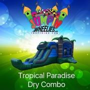 Tropical Paradise XL bouncer with Slide