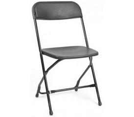 Poly Folding Chairs Black
