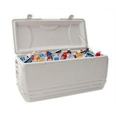 110 qt cooler with 40lbs ice