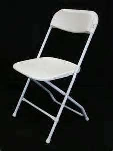 Poly Folding Chairs White