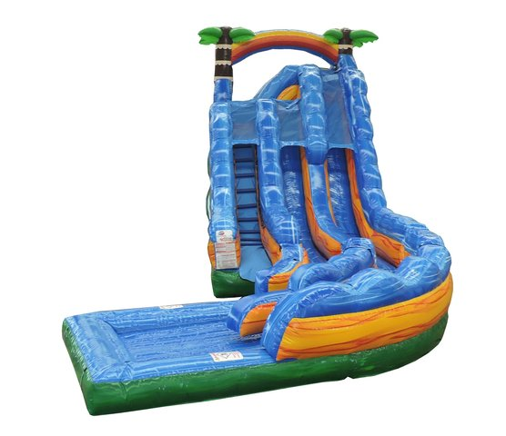 20ft Tropical Thunder Dual Lane Water Slide Rental