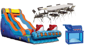 The Kahuna Water slide  party package