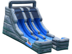 17ft Roaring Thunder Dual Lane water slide