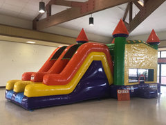 Double Slide & Bounce House Combo