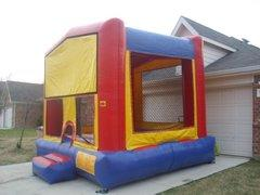 Red blue yellow bounce house 15 x 15