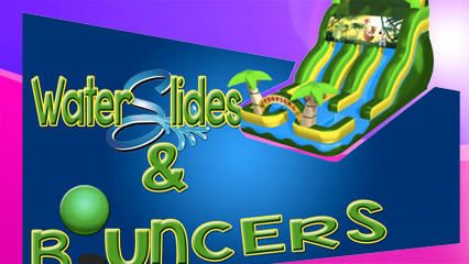 Water Slides and Bouncers Logo