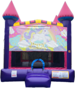 Unicorn Pink Castle Bouncer