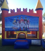 Power Rangers Castle Bounce House