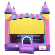 Pink Marble Castle Bouncer