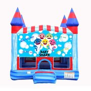 Baby Shark Blue Castle Bounce House