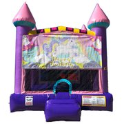 Glittery Unicorn Pink Castle Bouncer