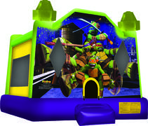 Ninja Turtles Full Theme Bounce House TMNT