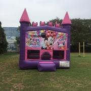 Minnie Mouse Pink Castle Bouncer