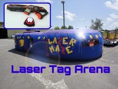 Nerf Tag Maze with guns