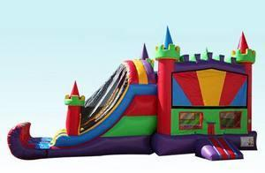 Multicolored Castle Combo Bounce House