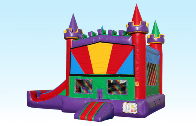 Rainbow Combo Bounce House