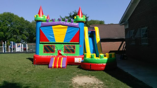 4n1 Rainbow Combo Bounce House