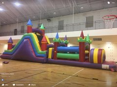 62ft Multicolor Obstacle course