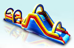 62 ft. Red, Yellow and Blue Obstacle Course