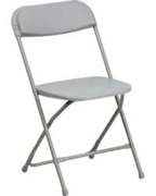 Grey folding chairs